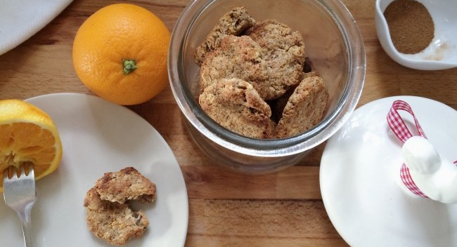Winter Orange and Cinnamon Cookies