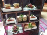 Cake Stand with sandwiches