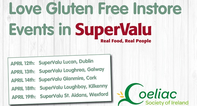 SuperValu Gluten Free Instore Events