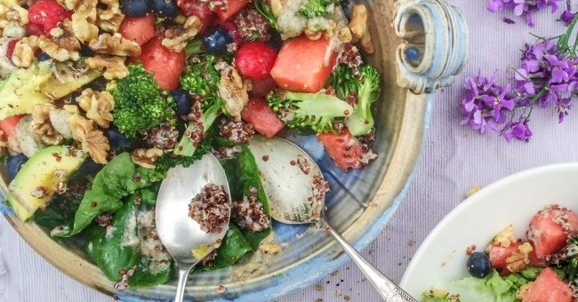 Watermelon & Berry Quinoa Salad (1)