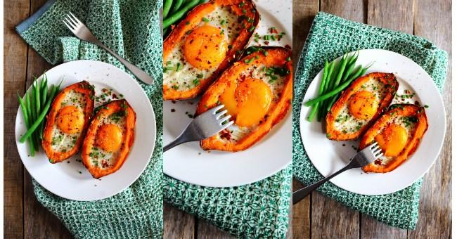 Sweet Potato Egg Boats Peachy Palate