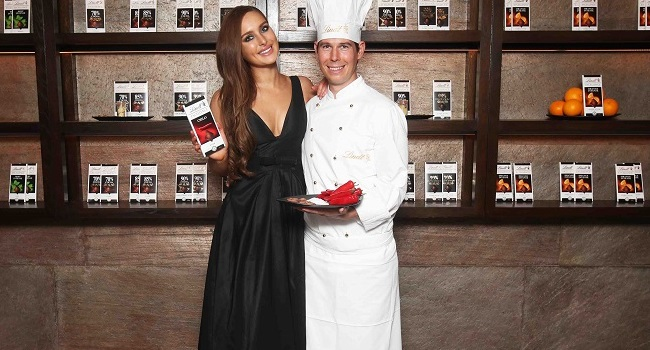 Roz Purcell Joined Lindt Master Chocolatier Stefan Bruderer for Chocolate Inspired Photoshoot