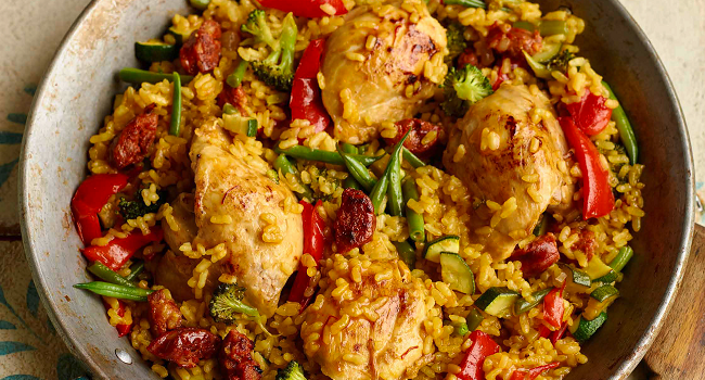 Spanish Chicken Paella Recipe from The Allergy-Free Family Cookbook
