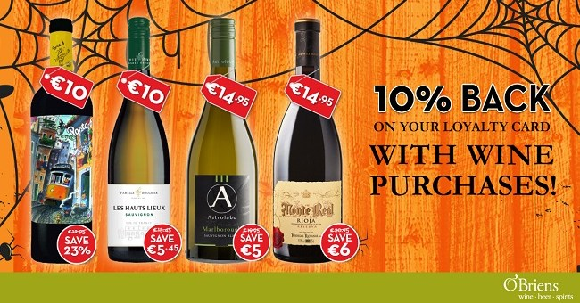 Spooktacular Offers from O'Briens Wines this Bank Holiday Weekend!