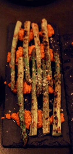 A Door to Barcelona Opens in Blackrock - El Celler Wine Bar Review - Asparagus in Romesco Sauce