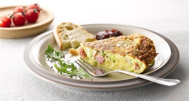 Leek, Mushroom and Ham Omelette Recipe from Bord Bia