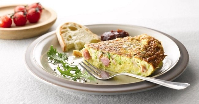 Leek, Mushroom and Ham Omelette Recipe from Bord Bia