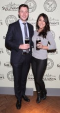 Daragh O'Donovon and Lauren Murphy at the Dublin launch of Sullivan's Brewing Company at Lemon & Duke,Royal Hibernan Way,Dublin Picture Bbrian Mcevoy No repro fee for one use