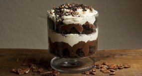 Chocolate Pecan Brownie Trifle with Orange Blossom Cream Recipe by Clodagh McKenna