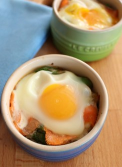 Baked Eggs Recipe with Smoked Salmon & Asparagus from The Wonky Spatula,