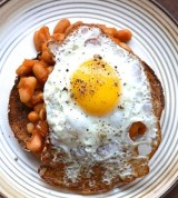 Beans and egg