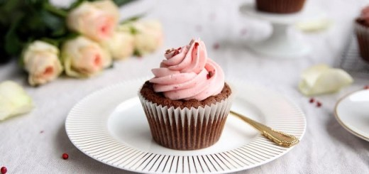Dark Chocolate, Raspberry and Pink Peppercorn Cupcake Recipe