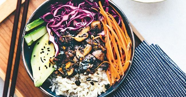 Donburi Japanese Rice Bowl Recipe by Nina Olsson