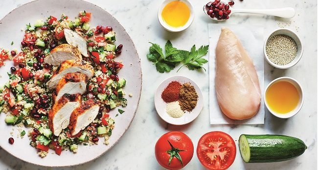 Spiced Roast Chicken Recipe with Quinoa Tabbouleh from Clean Eating Alice