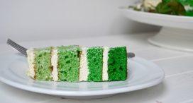 White Chocolate Green Ombre Cake Recipe from Hazel Sheehan.