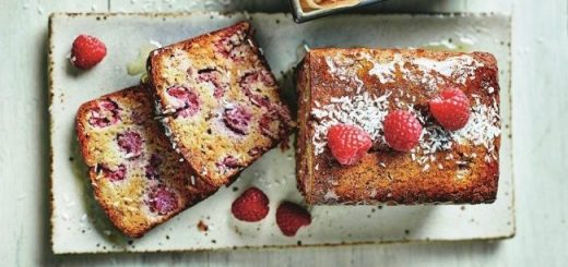 Raspberry & Coconut Breakfast Loaf Recipe from Clean Eating Alice