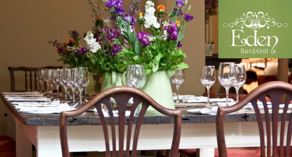 Enjoy a 2 Course Lunch for 2 at Eden Bar & Grill on South William St for €25