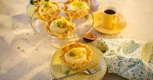 Siucra x Catherine Fulvio Mango and Passionfruit Mousse Tartlets Recipe