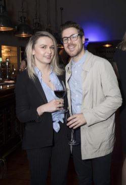 Pictured are Emma Williams and Conor Connolly at a special event celebrating 5 years at Marco Pierre White Courtyard Bar & Grill in Donnybrook. Picture Conor McCabe Photography.