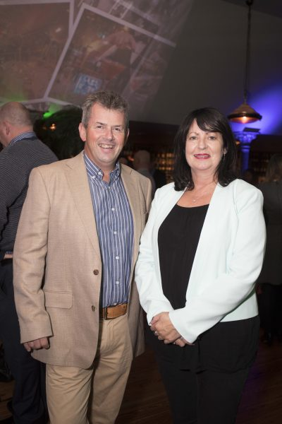 Pictured are Brian Kelly and Margaret Brady at a special event celebrating 5 years at Marco Pierre White Courtyard Bar & Grill in Donnybrook. Picture Conor McCabe Photography.