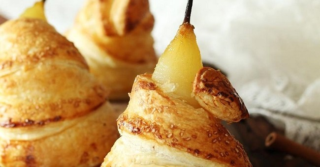 Puff pastry poached pear recipe