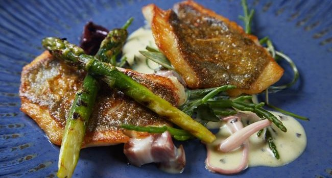 John Dory Recipe with Asparagus, Samphire, Ballyhoura Mushrooms & Seaweed by Chef Bryan McCarthy Picture: Miki Barlok