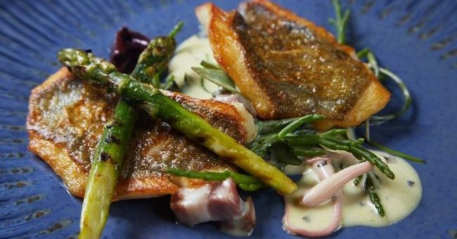 John Dory Recipe with Asparagus, Samphire, Ballyhoura Mushrooms & Seaweed by Chef Bryan McCarthy Picture: Miki Barlok