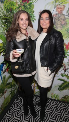 Emma O Farrell and Hazel Nestor pictured at The Monkey Haus hosted by Alexander Stein Founder of Monkey 47 at The Wilde Merrion Square, Dublin. Pic Brian McEvoy