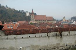 Old city wall in Brasov
