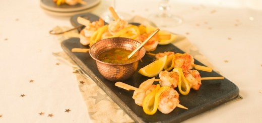 Siúcra & Catherine Fulvio's Mini Prawns Skewers Recipe with Lemon Chilli Dip