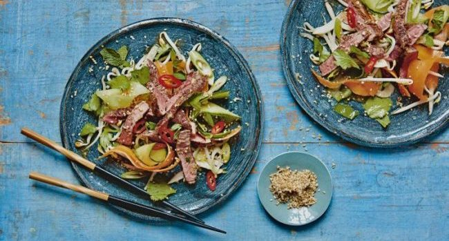 Asian-Style Seared Beef Salad Recipe From Phil Vickery's Ultimate Diabetes Cookbook