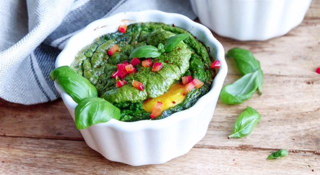 Spinach Soufflé Omelette Recipe