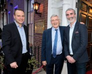 Barney McGill,Brian McGill and Jim McGuinness at the official opening of the Iveagh Garden Hotel in Harcourt Street,Dublin. Pic Brian McEvoy No Repro fee