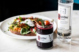 Ketel One Beetroot Bloody Mary with Avocado on toast and a poached egg
