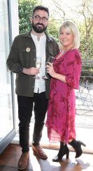 Patrick Kavanagh and Rebecca Brady at the launch of Emirates Holidays in Ireland at Cliff Townhouse Dublin. Pic Brian McEvoy No Repro fee for one use