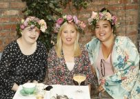 Rebecca Redmond, Emma and Allsún Henderson at the launch of Siúcra's new summer recipes by chef Catherine Fulvio held at the Woolen Mills Dublin.photo Kieran Harnett no repro fee