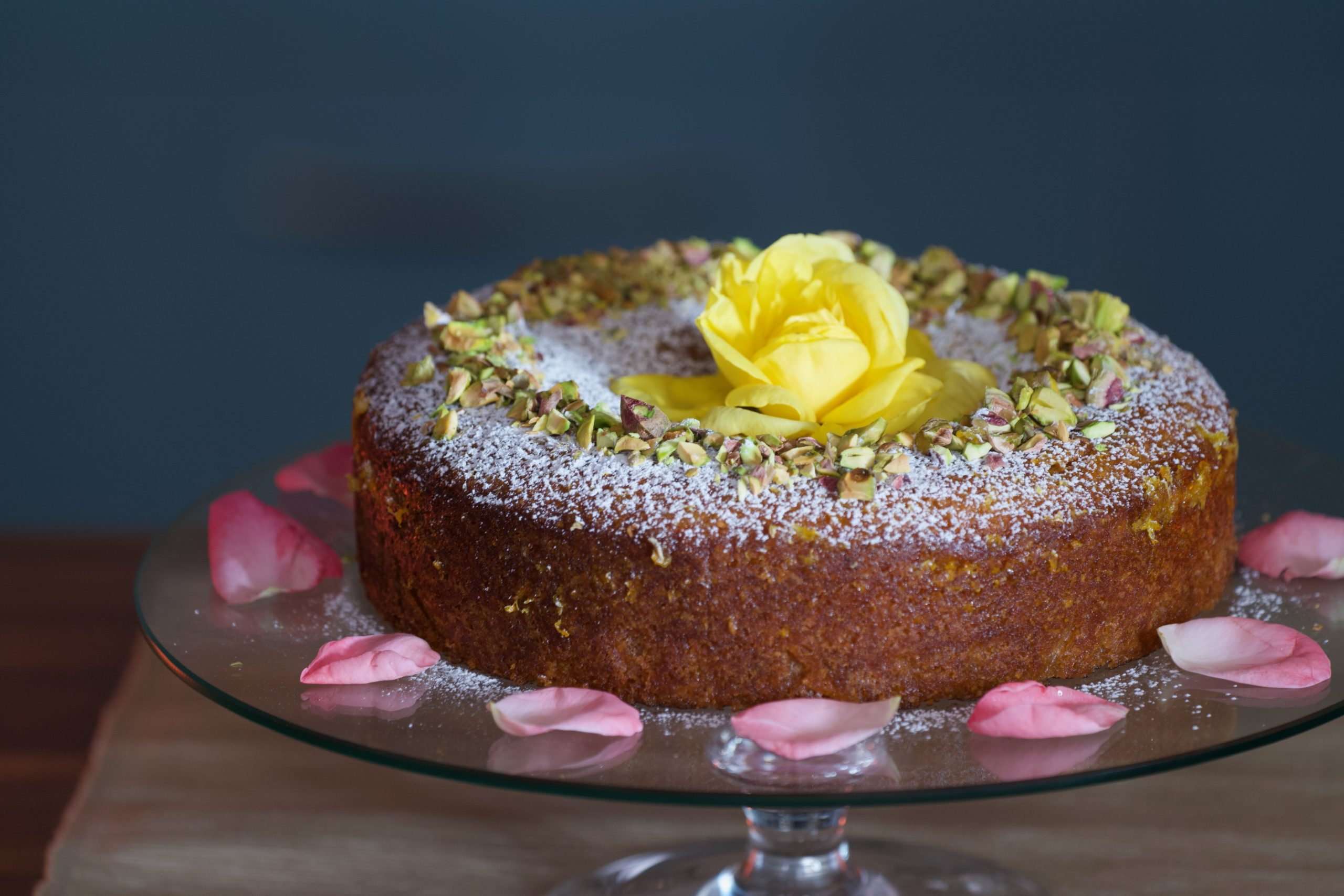 Almond Cardamom Rosewater Cake Recipe from Tastes Like Home with Catherine Fulvio