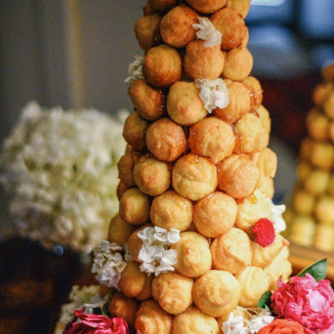 Make your own croquembouche for Inspiration for your New Years Eve party with champagne and lobster