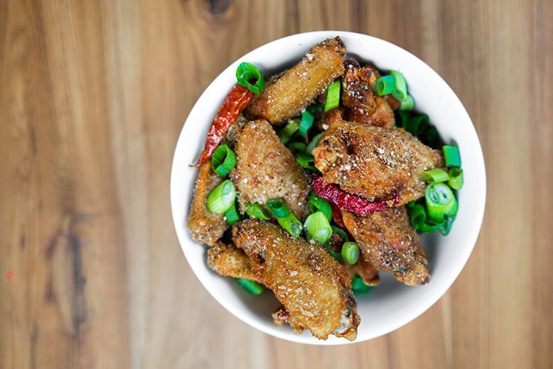 mission chinese wings Chonqing Chicken Wings