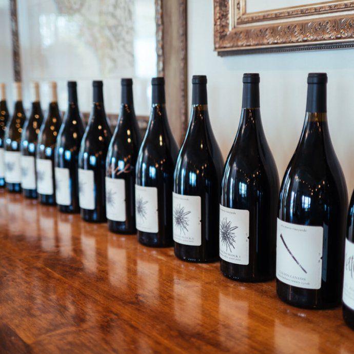Alta Maria Vineyard's wine in their tasting room