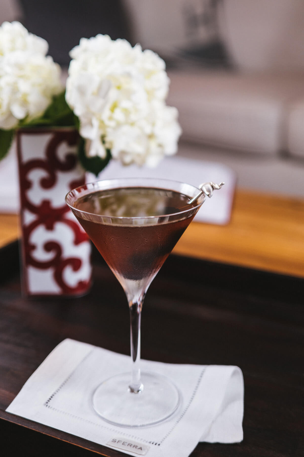 The Taste SF's Classic Manhattan cocktail is made with whisky, vermouth, and luxardo cherries