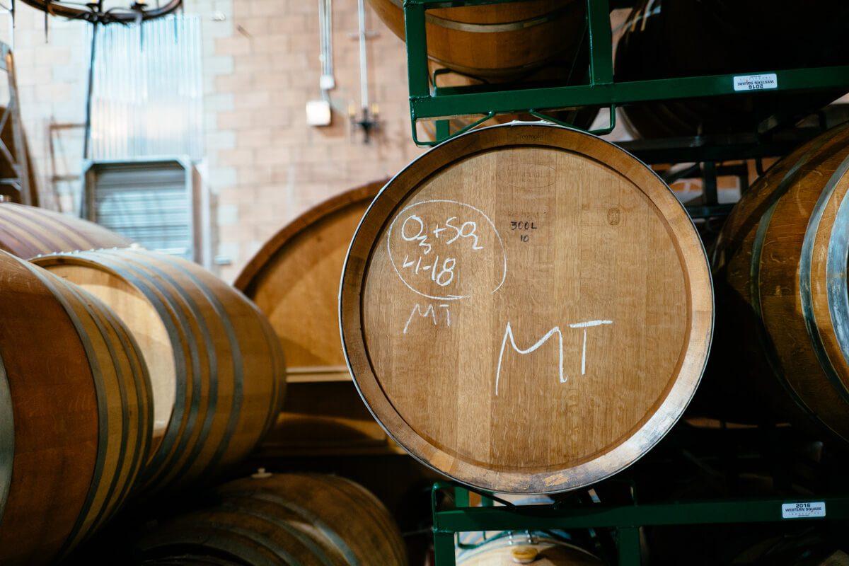 Barrels of beer at firestone walker barrel works