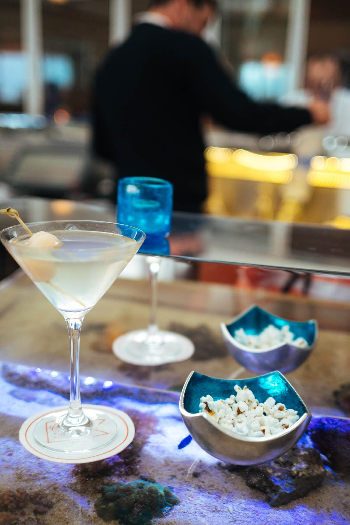 Lychee Martini at The Coral Reef Bar at the Coral Casino Beach and Cabana Club, Four Seasons Biltmore Santa Barbara