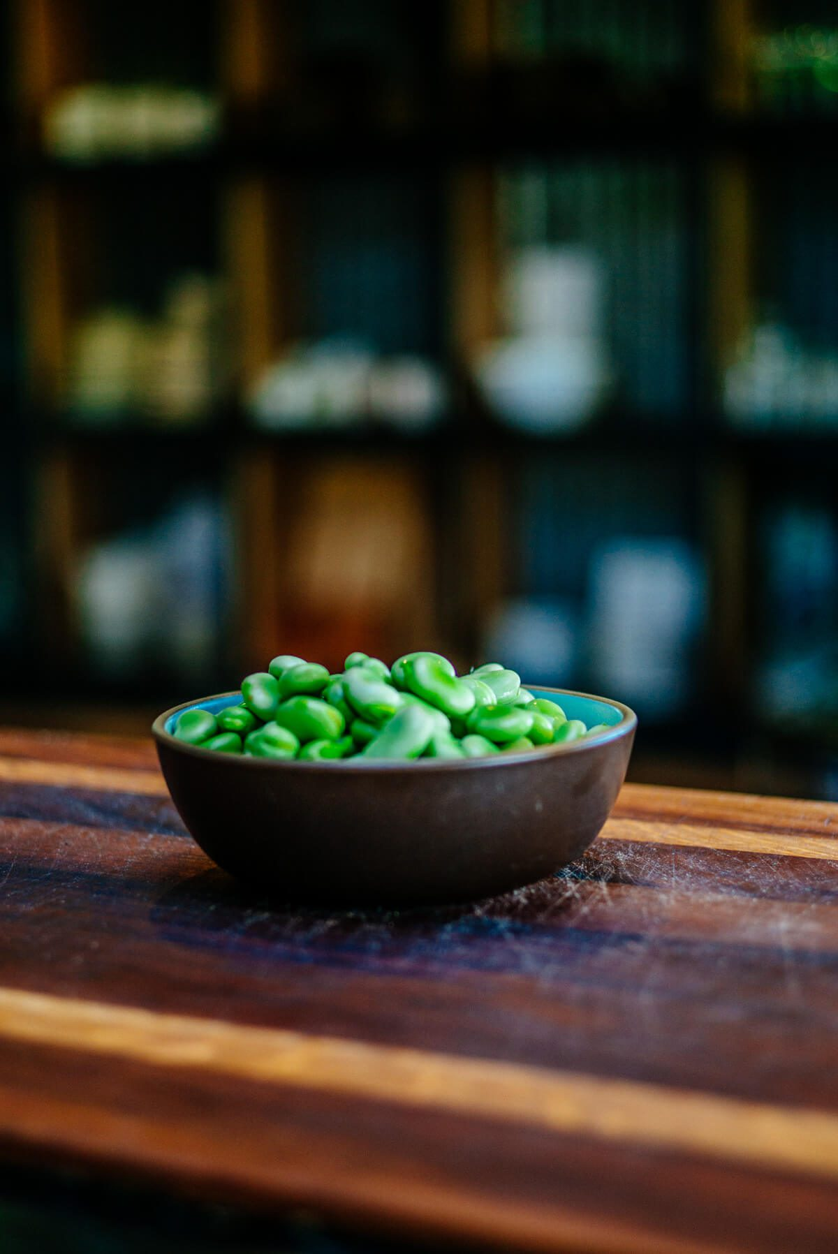 Shelled Fava Beans in a bowl