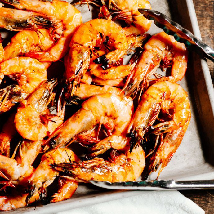 Perfect Grilled Shrimp is spicy and delicious for a summer bbq or add to pasta