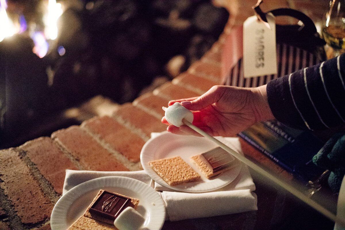 The Taste SF roasted marshmallows to make S'mores at the fire pits at The Ritz-Carlton Half Moon Bay