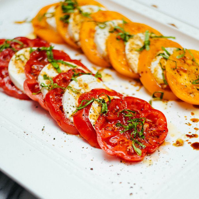 The Taste SF makes Caprese Salad for a simple dinner