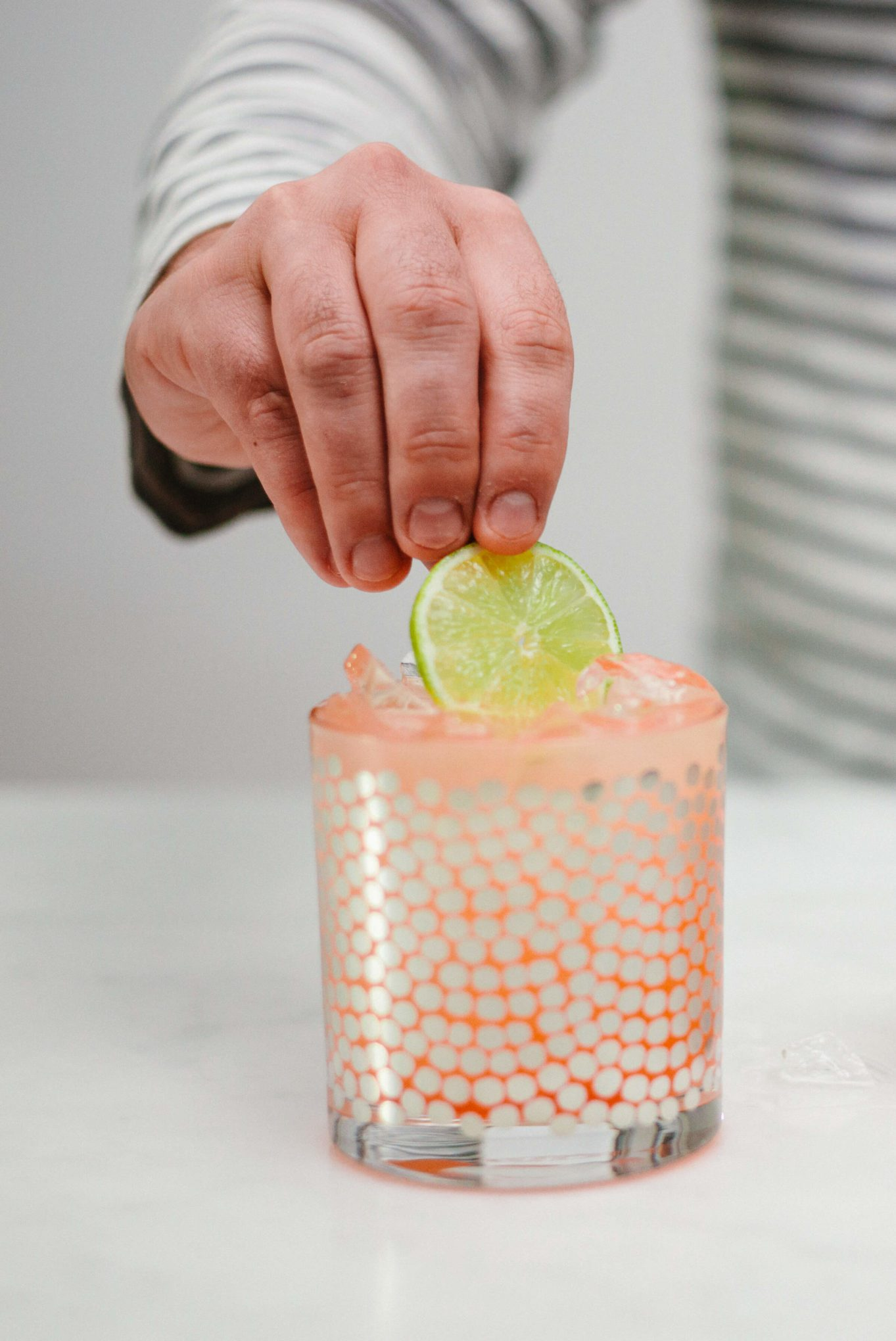 The Taste SF makes Paloma cocktails garnished with limes