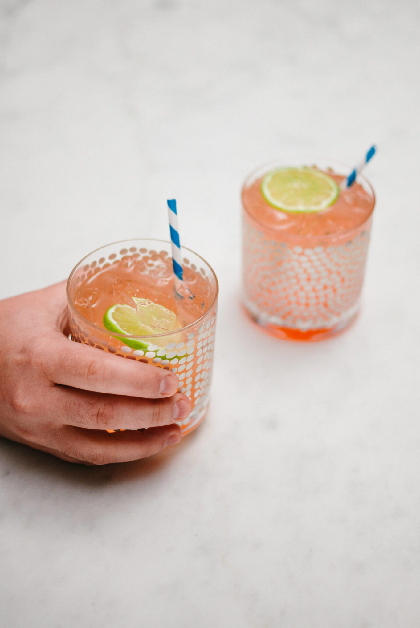 The Taste SF makes Paloma cocktails with these paper straws give them a pop of color