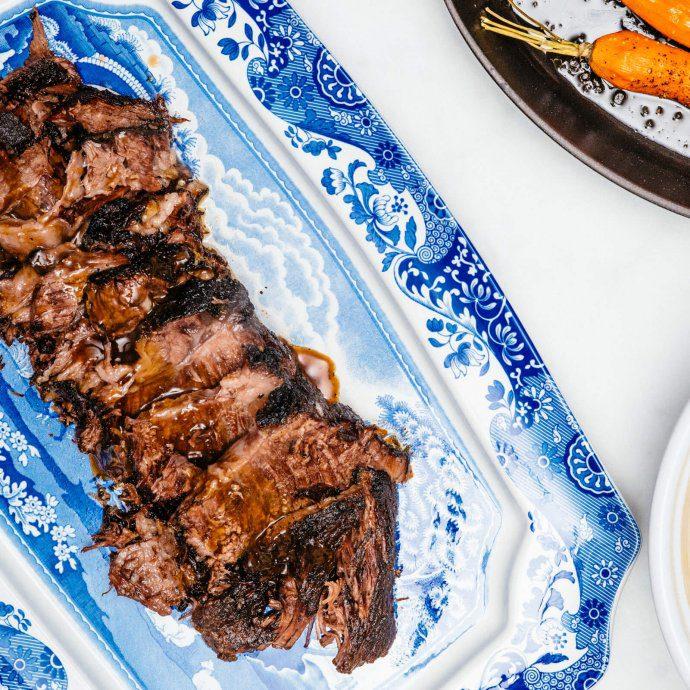 Sunday dinner with braised boneless short rib beef